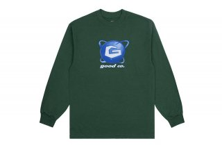 (The Good Company) GALAXY LONG SLEEVE - FOREST GREEN/MULTICOLOR