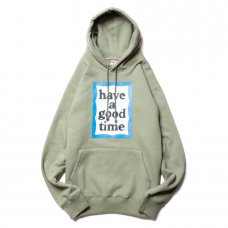 (have a good time) BLUE FRAME PULLOVER HOODIE - SAGE