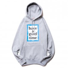 (have a good time) BLUE FRAME PULLOVER HOODIE - HEATHER GRAY
