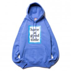 (have a good time) BLUE FRAME PULLOVER HOODIE - AZURE