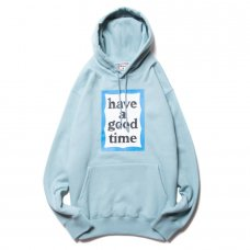 (have a good time) BLUE FRAME PULLOVER HOODIE - BLUE STONE