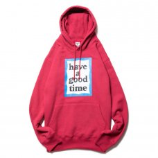 (have a good time) BLUE FRAME PULLOVER HOODIE - CHERRY