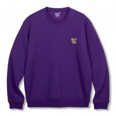 (Chocolate Jesus Coffee) COFFEE LOGO EMBROIDERED CREWNECK - PURPLE