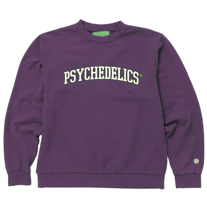(Mister Green) PSYCHEDELICS PRO CREWNECK - MIDNIGHT PURPLE