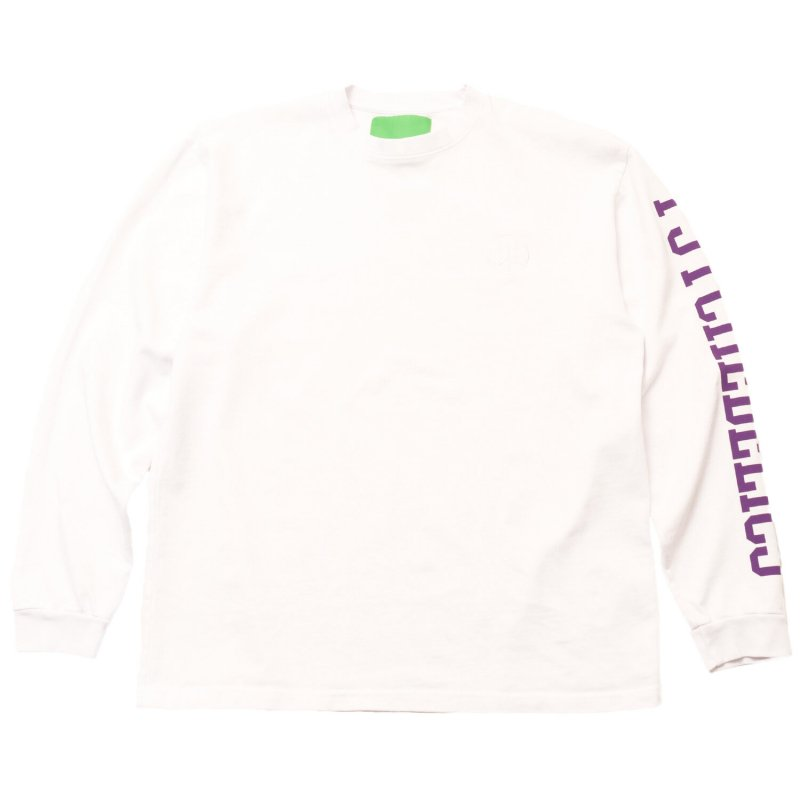 (Mister Green) PSYCHEDELICS PRO HEAVYWEIGHT L/S TEE - WHITE