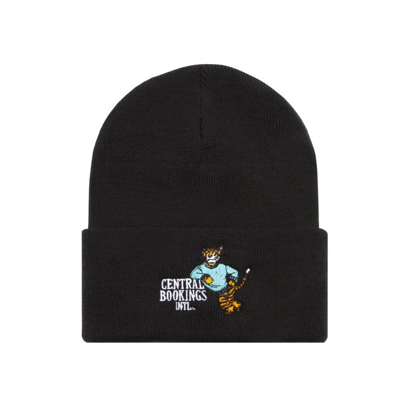 (CENTRAL BOOKINGS INTL) Courthouse Tiger Beanie - Black