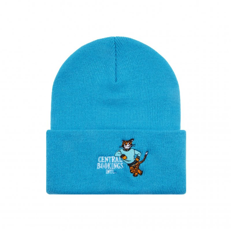 (CENTRAL BOOKINGS INTL) Courthouse Tiger Beanie - Blue