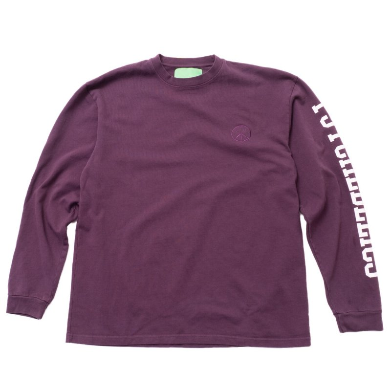 (Mister Green) Psychedelics Pro Heavyweight L/S Tee - Midnight Purple