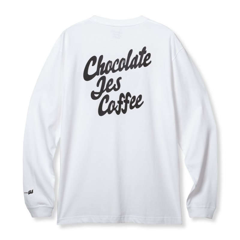 (Chocolate Jesus Coffee) For The Missing US L/S Tee - White
