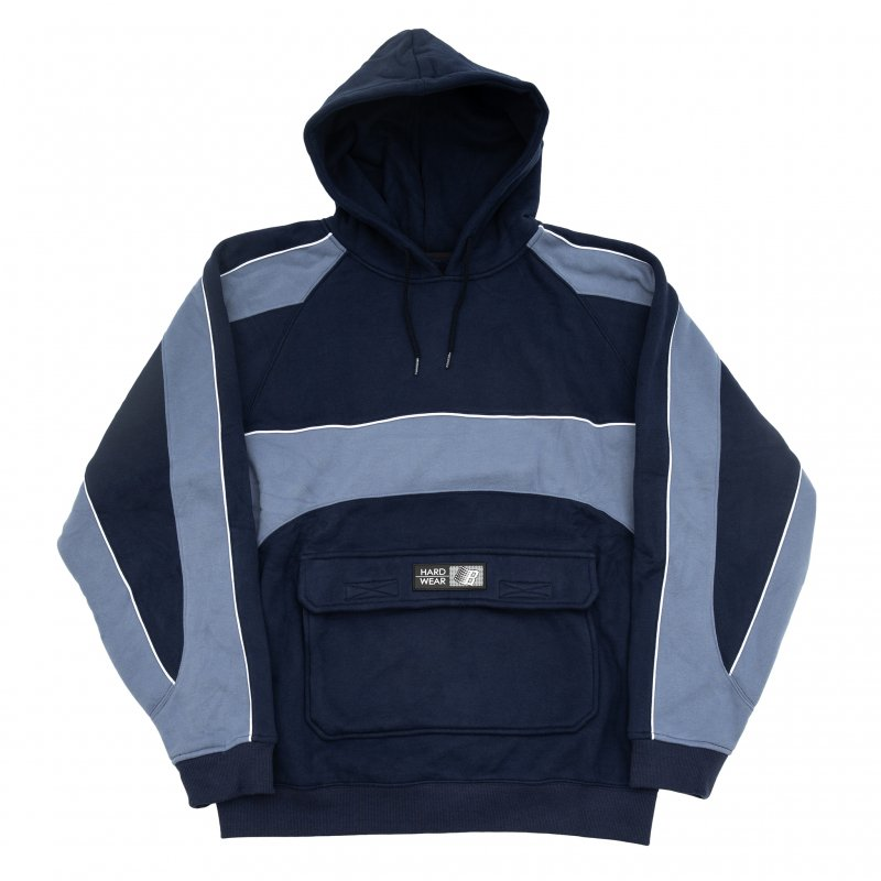 (BRONZE56K) PIPING HOODY - NAVY