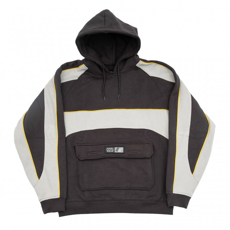 (BRONZE56K) PIPING HOODY - DARK GREY
