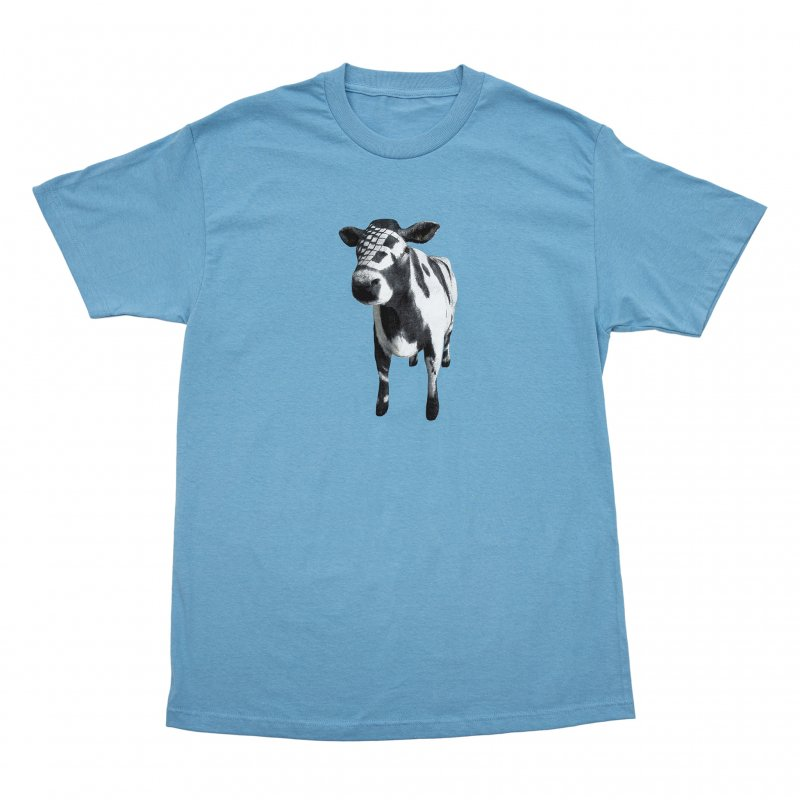 (BRONZE56K) COW TEE - CAROLINA BLUE