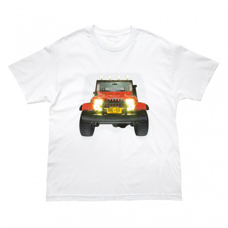 (BRONZE56K) JEEP TEE - WHITE