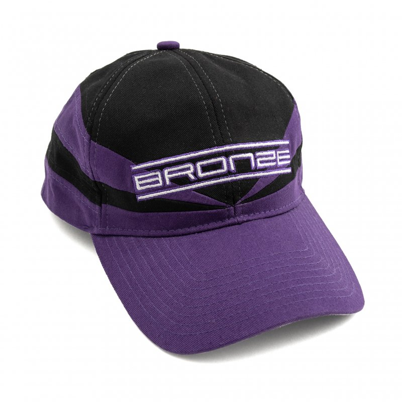 (BRONZE56K) SPORTS SNAPBACK HAT - BLACK/PURPLE