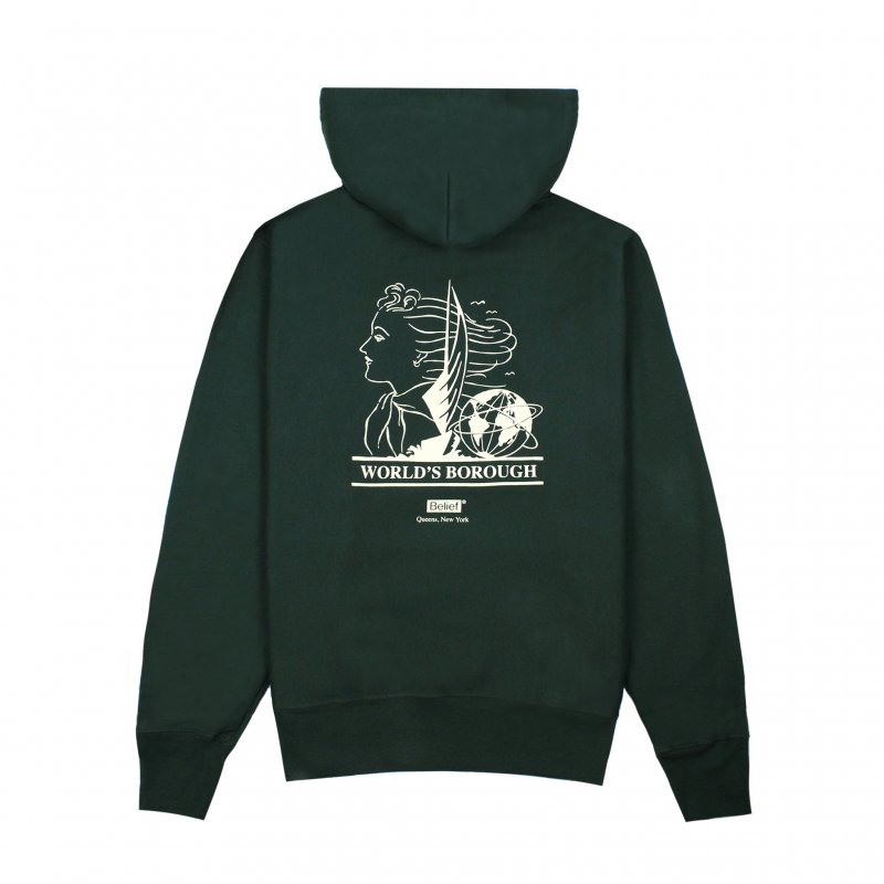(Belief NYC) WORLD'S BOROUGH CHAMPION HOODY - HUNTER