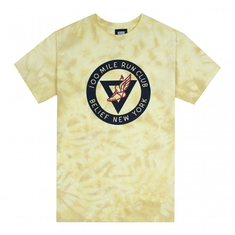 (Belief NYC) RUN CLUB TEE - YELLOW DYE
