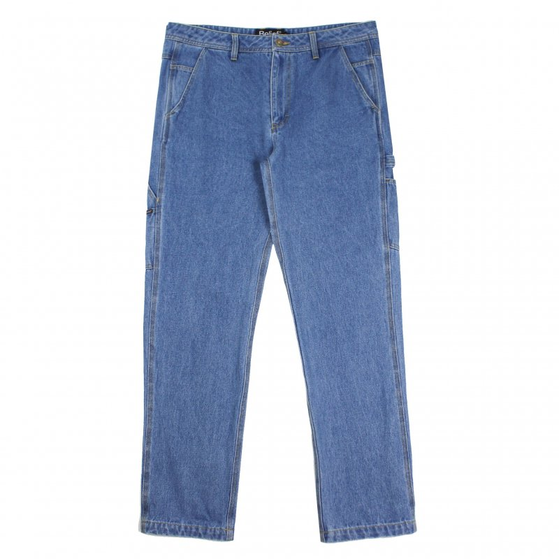 (Belief NYC) DENIM CARPENTER PANT - MEDIUM BLUE