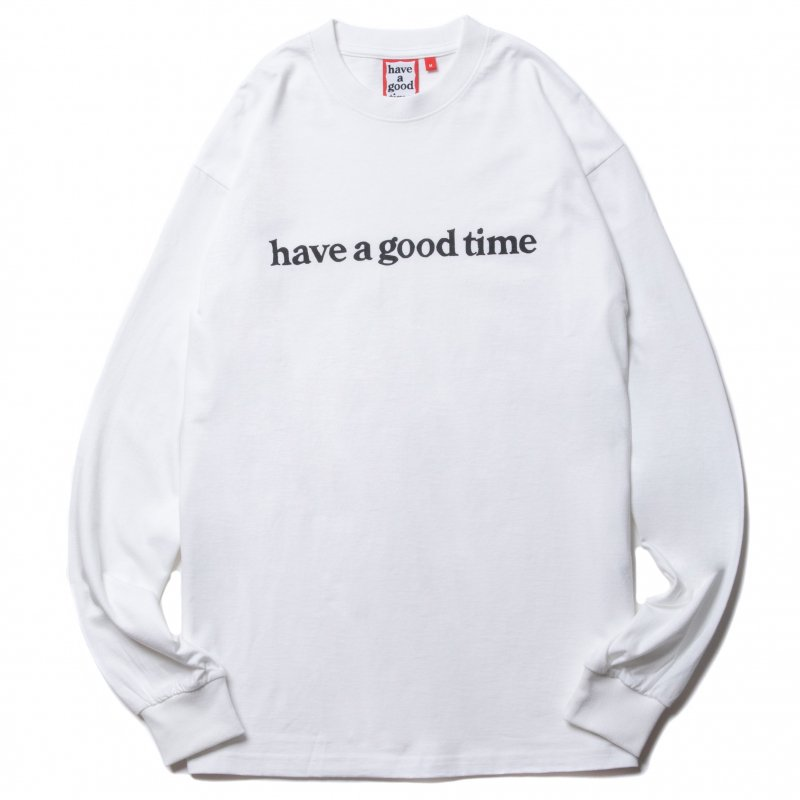 <img class='new_mark_img1' src='https://img.shop-pro.jp/img/new/icons5.gif' style='border:none;display:inline;margin:0px;padding:0px;width:auto;' />(have a good time) SIDE LOGO L/S TEE - WHITE
