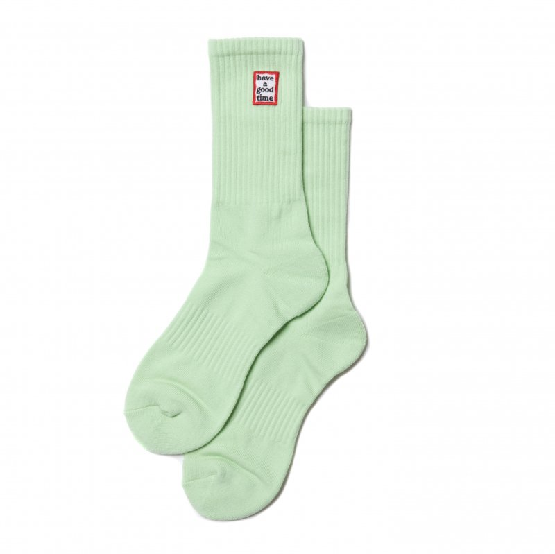 <img class='new_mark_img1' src='https://img.shop-pro.jp/img/new/icons5.gif' style='border:none;display:inline;margin:0px;padding:0px;width:auto;' />(have a good time) FRAME SOCKS - ICE GREEN