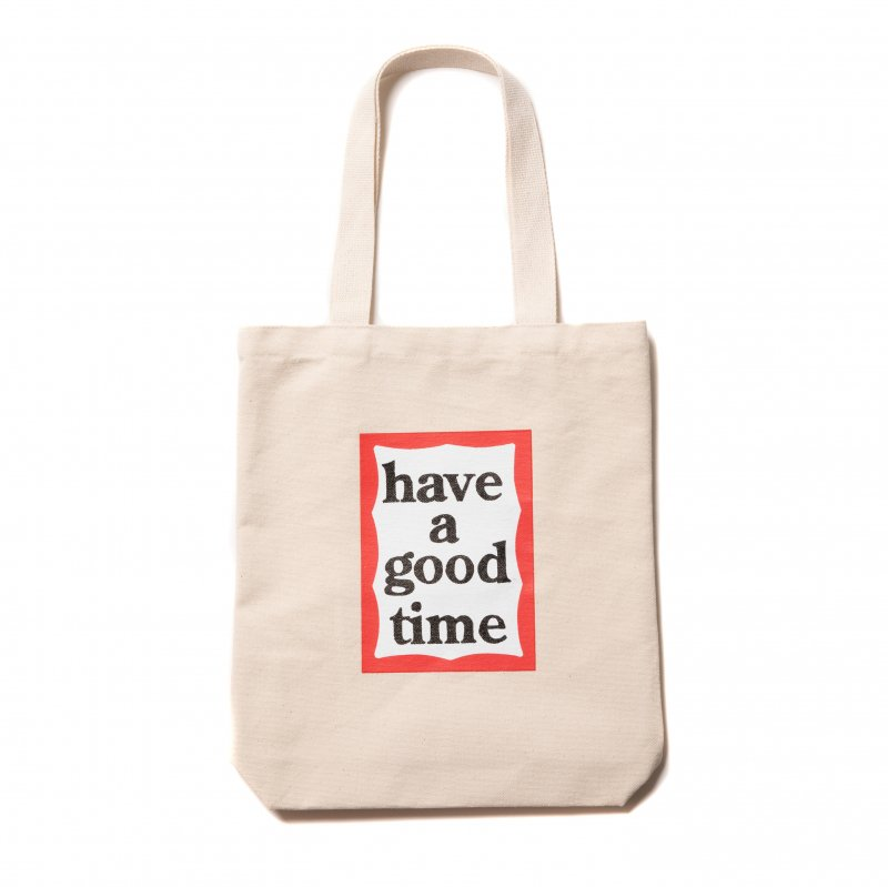 (have a good time) FRAME TOTE - NATURAL