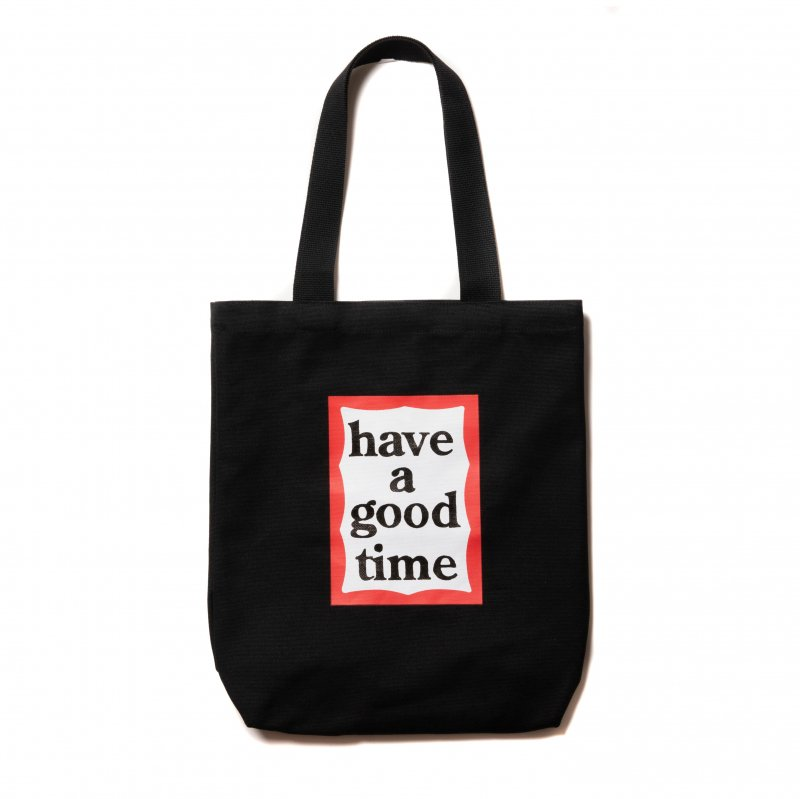 (have a good time) FRAME TOTE - BLACK