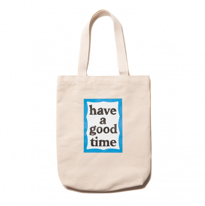 (have a good time) BLUE FRAME TOTE - NATURAL