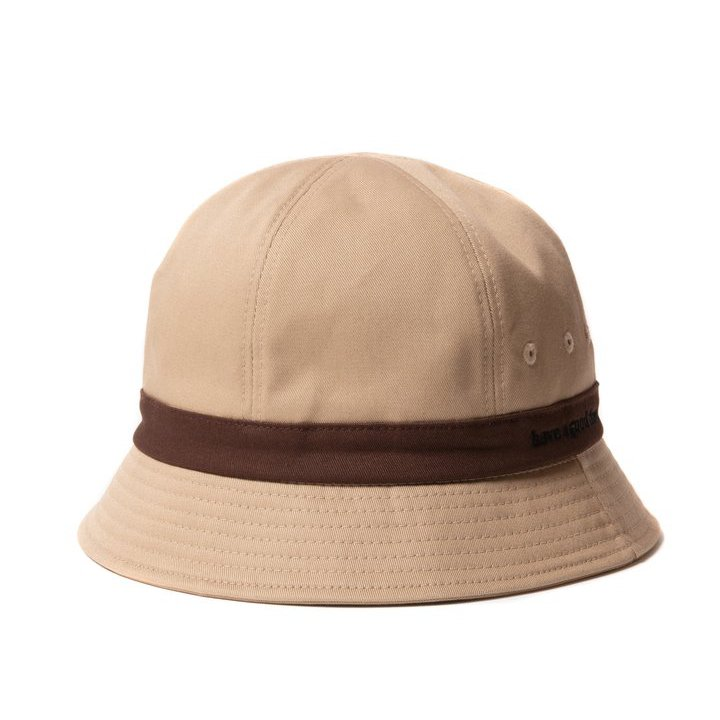 (have a good time) SIDE LOGO BUCKET HAT - BROWN