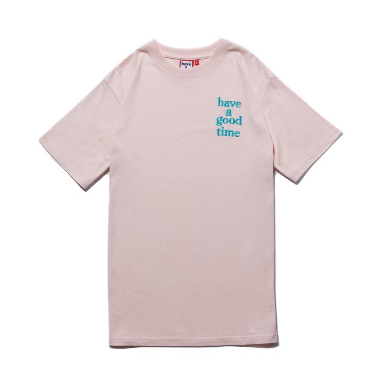 (have a good time) LOGO EMBROIDERED S/S TEE - SAKURA