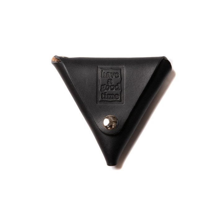 (have a good time) LEATHER COIN CASE - BLACK