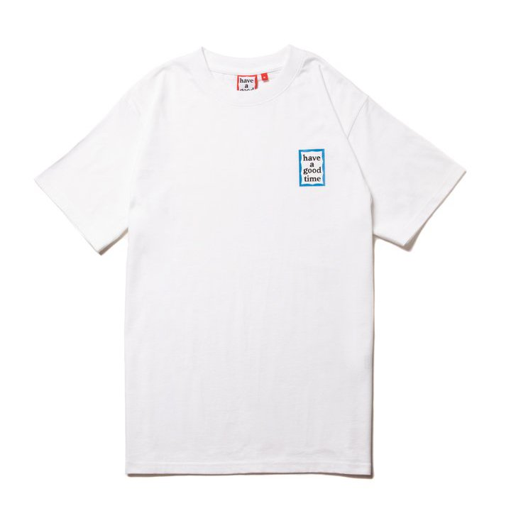 (have a good time) MINI BLUE FRAME S/S TEE - WHITE