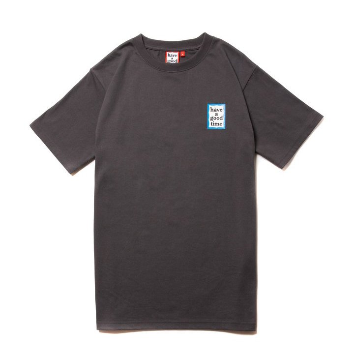 (have a good time) MINI BLUE FRAME S/S TEE - CHARCOAL