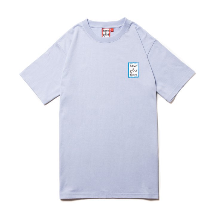 (have a good time) MINI BLUE FRAME S/S TEE - CERULEAN