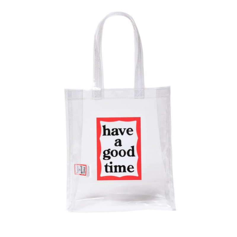 <img class='new_mark_img1' src='https://img.shop-pro.jp/img/new/icons5.gif' style='border:none;display:inline;margin:0px;padding:0px;width:auto;' />(have a good time) PVC FRAME MINI TOTE - CLEAR