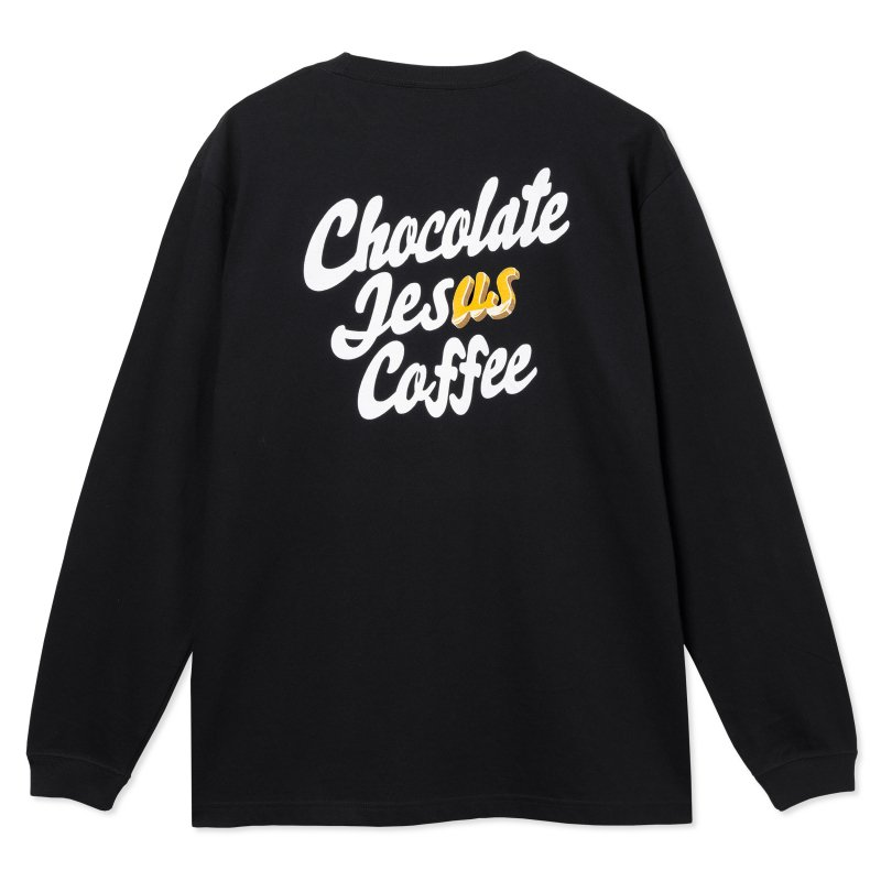 (Chocolate Jesus Coffee) Don't Steal It Again L/S Tee - Black