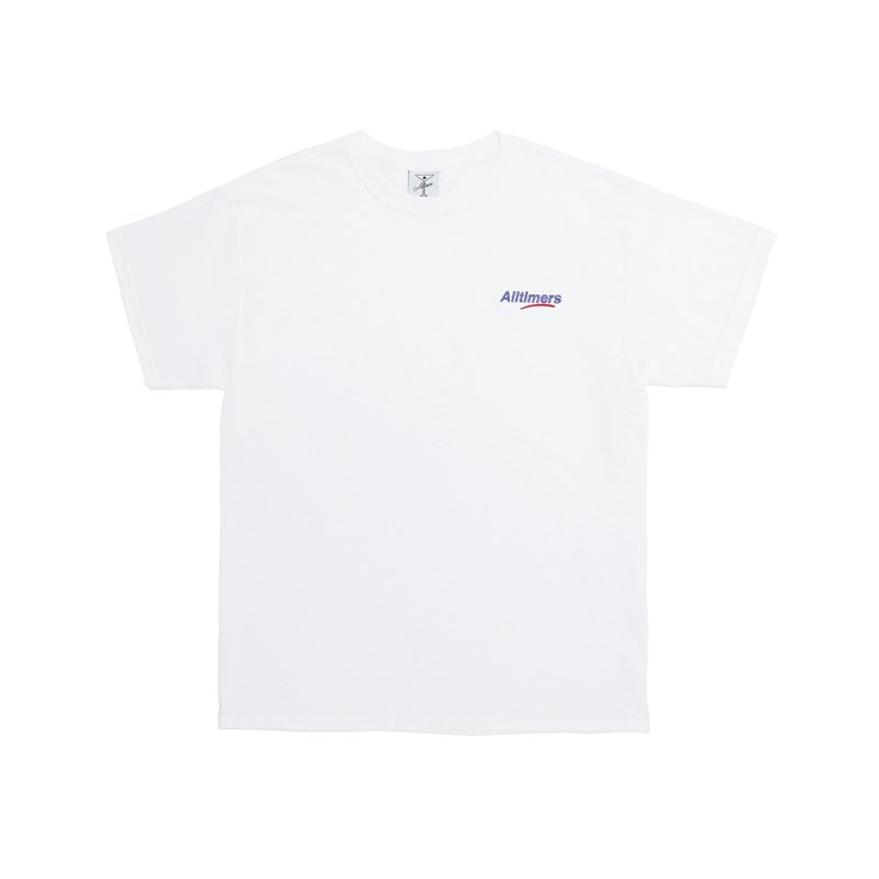 <img class='new_mark_img1' src='https://img.shop-pro.jp/img/new/icons5.gif' style='border:none;display:inline;margin:0px;padding:0px;width:auto;' />(Alltimers) EMBROIDERED ESTATE TEE - WHITE