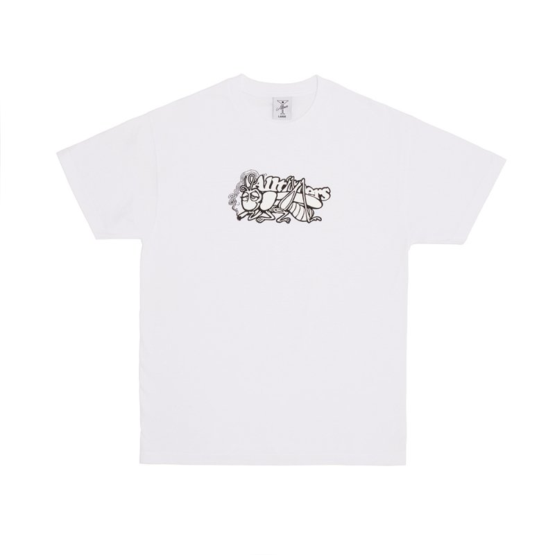<img class='new_mark_img1' src='https://img.shop-pro.jp/img/new/icons5.gif' style='border:none;display:inline;margin:0px;padding:0px;width:auto;' />(Alltimers) GRASS COPPER TEE - WHITE