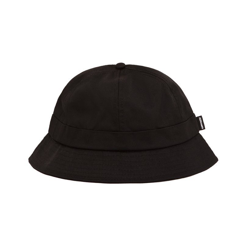 <img class='new_mark_img1' src='https://img.shop-pro.jp/img/new/icons5.gif' style='border:none;display:inline;margin:0px;padding:0px;width:auto;' />(Alltimers) BROADWAY BUCKET HAT - BLACK