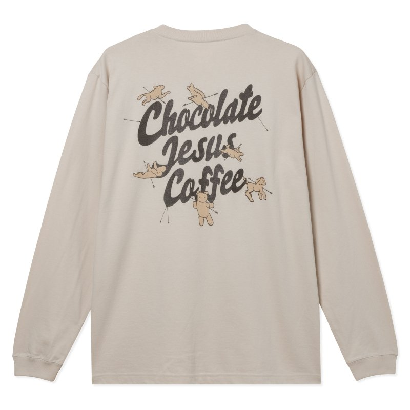 (Chocolate Jesus Coffee) Shot By Cupid L/S Tee - Sand