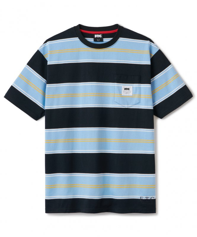 <img class='new_mark_img1' src='https://img.shop-pro.jp/img/new/icons5.gif' style='border:none;display:inline;margin:0px;padding:0px;width:auto;' />(FTC) POCKET STRIPE TEE - BLACK