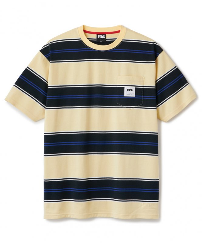 <img class='new_mark_img1' src='https://img.shop-pro.jp/img/new/icons5.gif' style='border:none;display:inline;margin:0px;padding:0px;width:auto;' />(FTC) POCKET STRIPE TEE - YELLOW