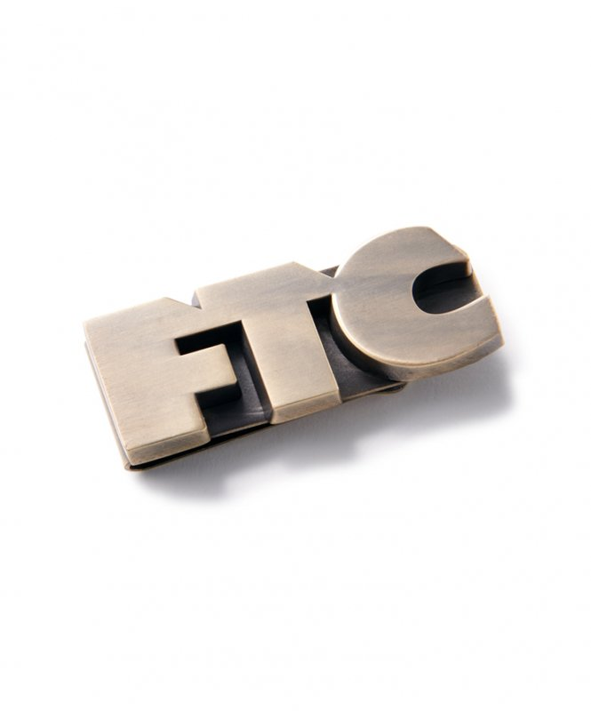<img class='new_mark_img1' src='https://img.shop-pro.jp/img/new/icons5.gif' style='border:none;display:inline;margin:0px;padding:0px;width:auto;' />(FTC) FTC OG LOGO MONEY CLIP - GOLD