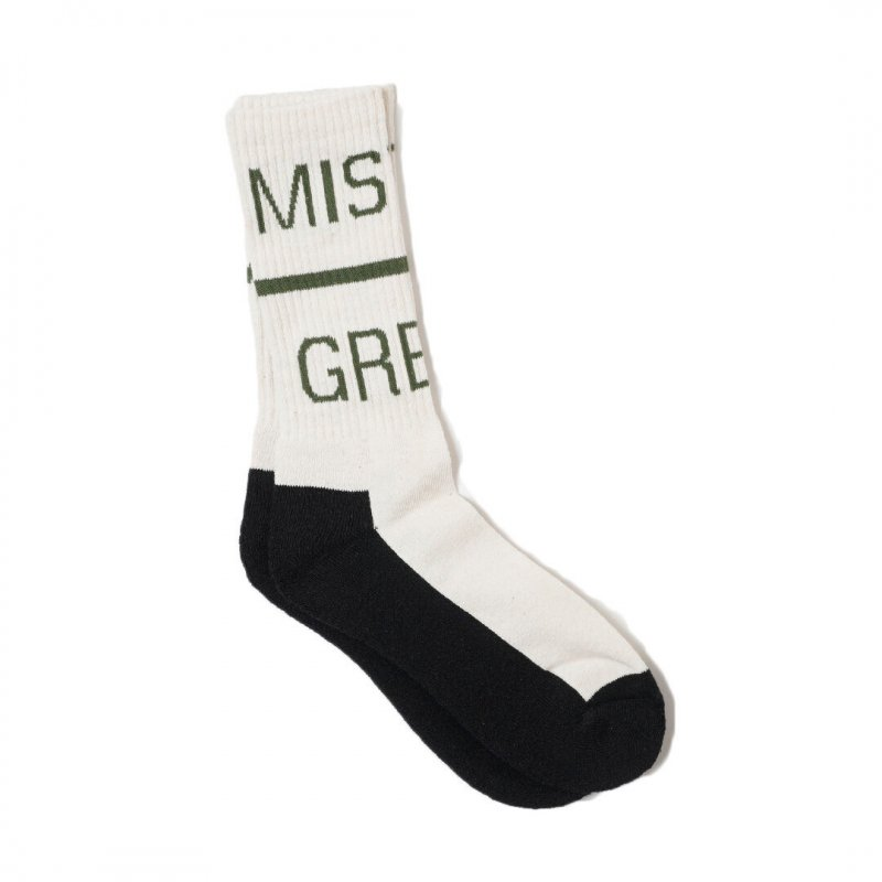 <img class='new_mark_img1' src='https://img.shop-pro.jp/img/new/icons5.gif' style='border:none;display:inline;margin:0px;padding:0px;width:auto;' />(Mister Green) Swiss Wordmark Hemp Socks