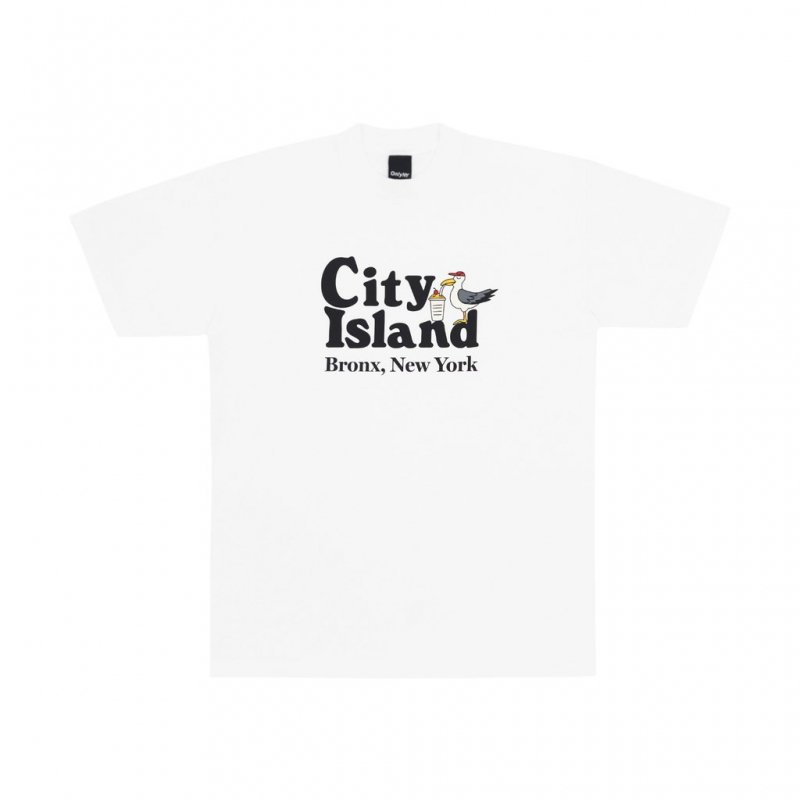 <img class='new_mark_img1' src='https://img.shop-pro.jp/img/new/icons5.gif' style='border:none;display:inline;margin:0px;padding:0px;width:auto;' />(Only NY) City Island T-Shirt - White