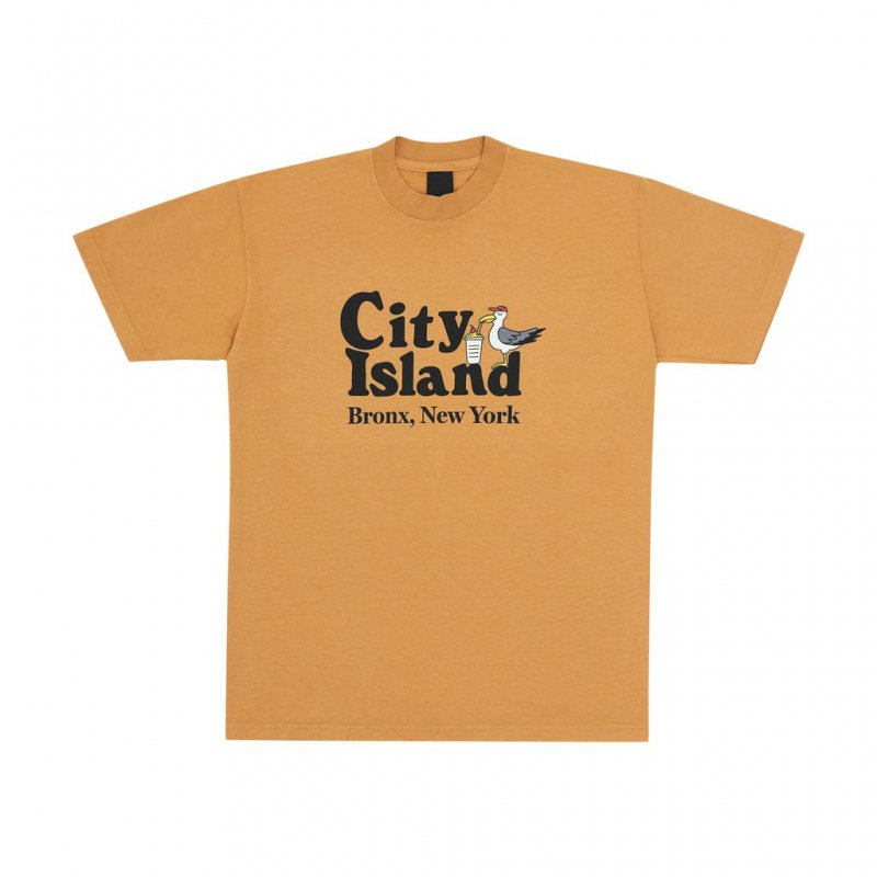 <img class='new_mark_img1' src='https://img.shop-pro.jp/img/new/icons5.gif' style='border:none;display:inline;margin:0px;padding:0px;width:auto;' />(Only NY) City Island T-Shirt - Mandarin