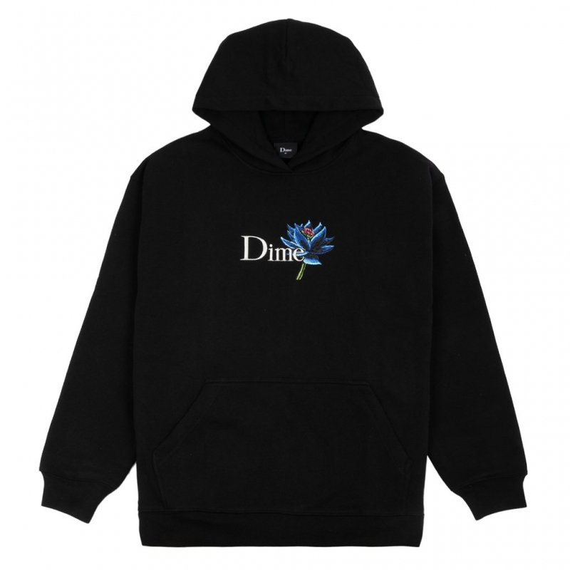 <img class='new_mark_img1' src='https://img.shop-pro.jp/img/new/icons5.gif' style='border:none;display:inline;margin:0px;padding:0px;width:auto;' />(Dime MTL) DIME BLACK LOTUS HOODIE - BLACK