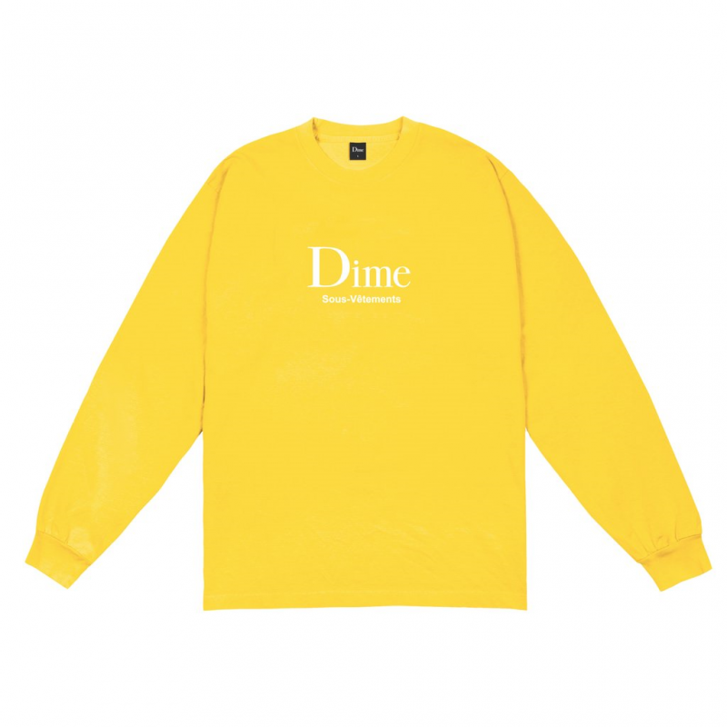 <img class='new_mark_img1' src='https://img.shop-pro.jp/img/new/icons5.gif' style='border:none;display:inline;margin:0px;padding:0px;width:auto;' />(Dime MTL) DIME SOUS-VETEMENTS L/S - YELLOW