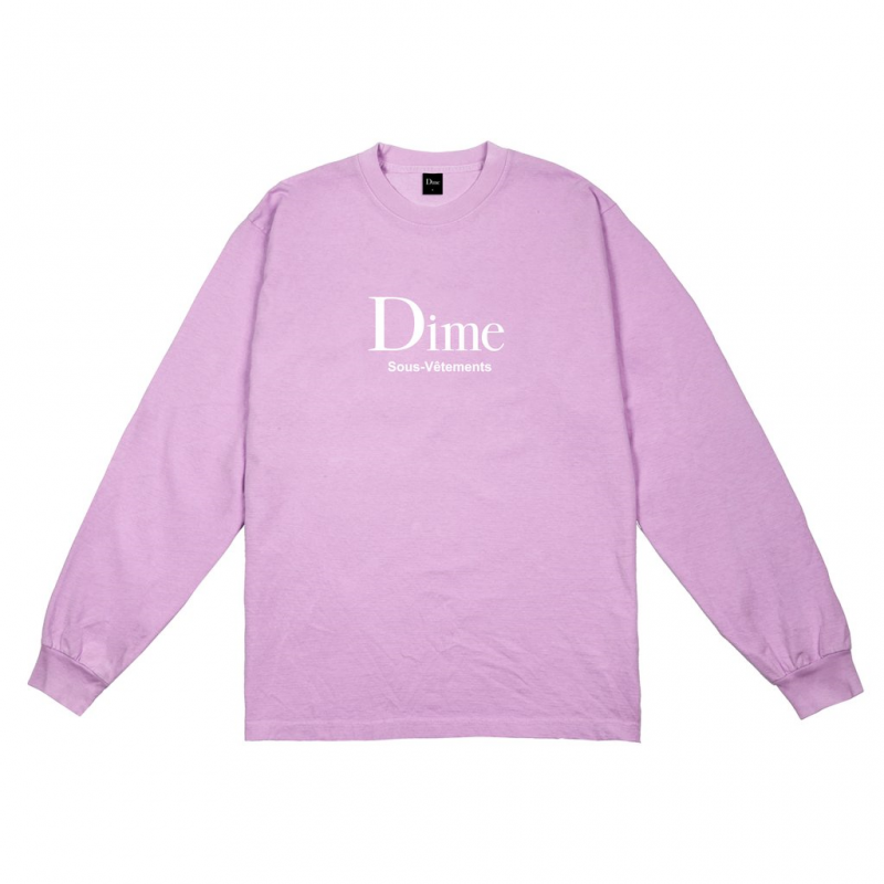 <img class='new_mark_img1' src='https://img.shop-pro.jp/img/new/icons5.gif' style='border:none;display:inline;margin:0px;padding:0px;width:auto;' />(Dime MTL) DIME SOUS-VETEMENTS L/S - LAVENDER