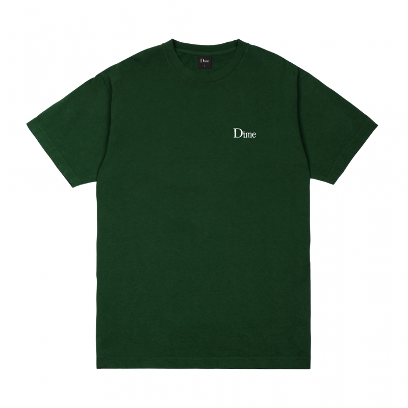 (Dime MTL) DIME CLASSIC SMALL LOGO T-SHIRT - FOREST