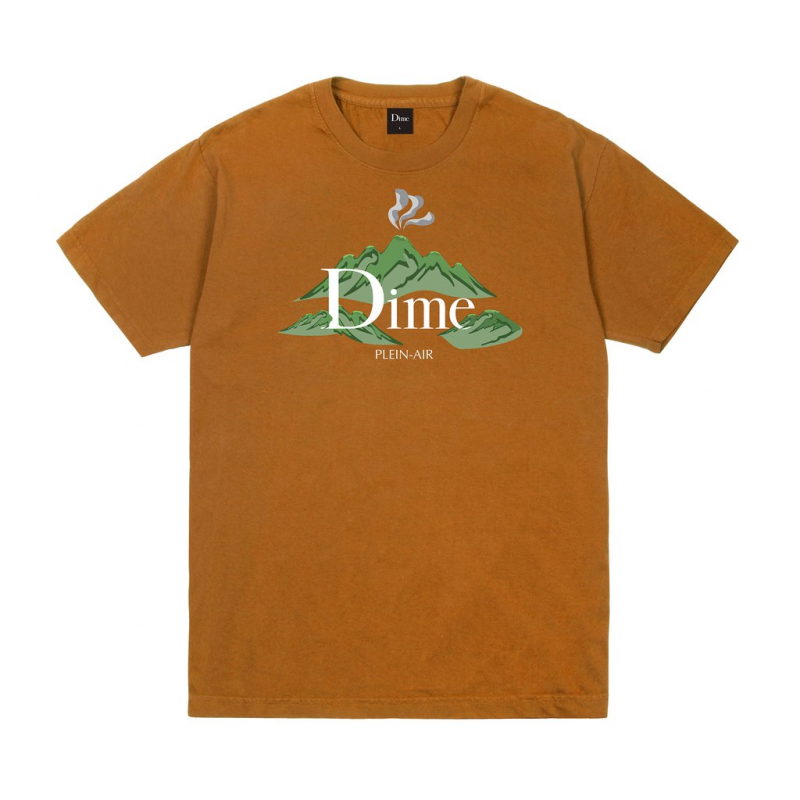 <img class='new_mark_img1' src='https://img.shop-pro.jp/img/new/icons5.gif' style='border:none;display:inline;margin:0px;padding:0px;width:auto;' />(Dime MTL) DIME PLEIN AIR T-SHIRT - COFFEE