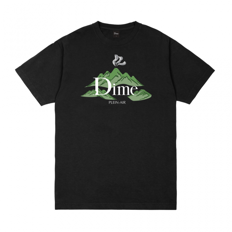 <img class='new_mark_img1' src='https://img.shop-pro.jp/img/new/icons5.gif' style='border:none;display:inline;margin:0px;padding:0px;width:auto;' />(Dime MTL) DIME PLEIN AIR T-SHIRT - BLACK